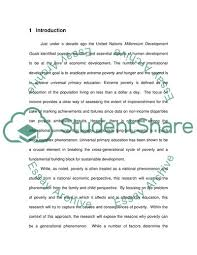 Poverty And Education Essay Example Topics And Well