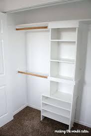 how to build closet shelves mdf storage system diy custom organizers