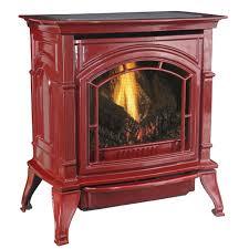 31 000 btu vent free red enameled porcelain cast iron lp gas stove