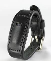 black fitbit flex leather bracelet fit bit band image