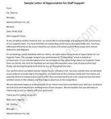Appreciation Letter Archives Free Letters