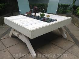 recycled pallets outdoor furniture. 11 amazing recycled pallet tables with planters pallets outdoor furniture