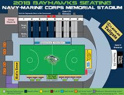 Chesapeake Seating Chart 2019 Bayhawks Seating Map Chesapeake Bayhawks Mll Team