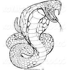 Small Picture logo of a striking venomous cobra snake hissing on a white