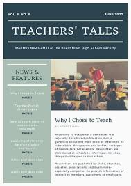 News Letters Brown And Black Photo College School Newsletter Templates