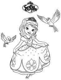 Princess Sofiadisney Kleurplaten Kleurplaten Disney
