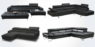 15 best leather sectional sofas in black with genuine leather