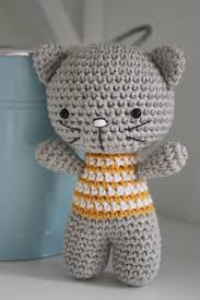 Free Crochet Cat Patterns Amazing Small Cat With Joined Legs Lilleliis
