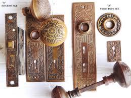 antique restoration hardware door set 1