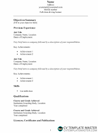 We've also included lots of cv examples to get inspired from. Basic Resume Template Cv Template Master