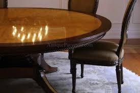 traditional design classy blonde finish 7 foot round table seats 10 people