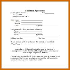 6-7 Sublet Agreement | Resumeheader