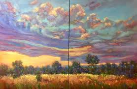 morning sky new contemporary landscape painting by sheri jones