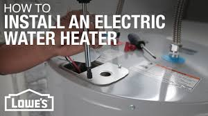 electric water heater installation electric water heater installation