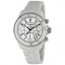 chanel watches jomashop chanel j12 chronograph white ceramic unisex watch