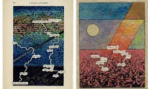 y have been customizing their books and looking at the work of tom philips he was an artist who bought an old book and turned it into a work of art