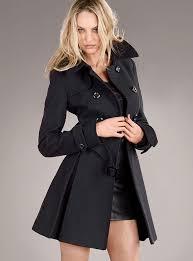 black wool trench coat women