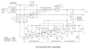 12v battery charger using scr scr 12v battery charger circuit schematic
