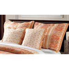 king size pillow shams greenland home fashions taj cotton king size pillow shams set of 2