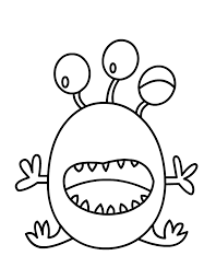 Monster Clipart Coloring Page