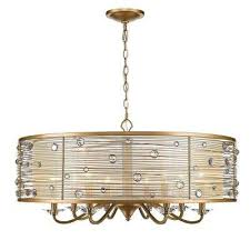 joia 8 light peruvian gold chandelier light with sheer filigree mist shade
