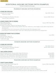 Additional Resume Skills Additional Resume Sections With Examples Career Center North