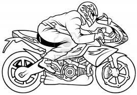 Coloriage Motocyclette Les Beaux Dessins De Transport Imprimer