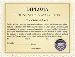 diploma online s marketing power college you are awarded a course diploma