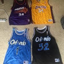 Champion Vintage Nba Jerseys Sizes 40 44