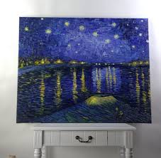 handmade oil painting reion starry night over the rhone by vincent van gogh