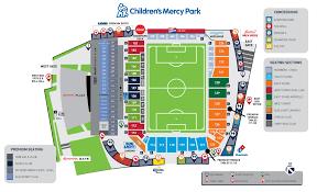 Childrens Mercy Park Stadium Map Sporting Kansas City