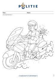 Kleurplaat Politieagent Op Motor Vraaghetdepolitienl