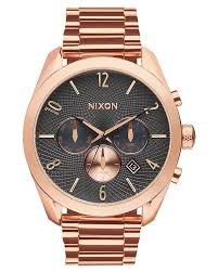 nixon the bullet chrono watch rose gold gunmetal surfstitch rose gold gunmetal mens accessories nixon watches a3662046