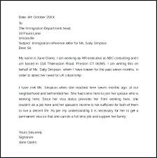 Immigration Reference Letter Samples For Lovely Best Ideas