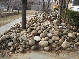 My Sweetie has dreams of building a rock wall but we've got enough work  inside that those rocks will be sitting there for years.