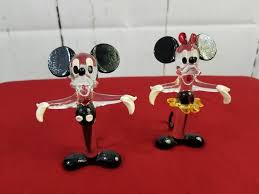 details about murano glass mickey minnie mouse vintage disney decor figurines