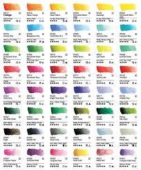 Winsor And Newton Cotman Color Chart Winsor Newton Professional Watercolor Chart Pdf