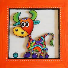 petite vache très colorée