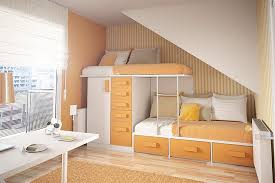 small bedroom furniture. exellent bedroom orange furniture in small bedroom under stairs inside