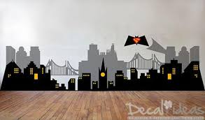 Small Picture Gotham City Wall Decal Small Home Decor Inspiration Nice Lovely