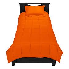 orange premium comforter set twin extra long