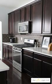 gray backsplash dark cabinets. Light Tile Dark Grout Kitchen Backsplash Plum Color Wall With Cabinets To Gray