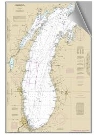 Lake Michigan Nautical Chart Peel And Stick Nautical Chart Of Lake Michigan