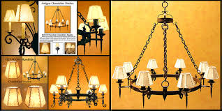 rawhide chandelier shades