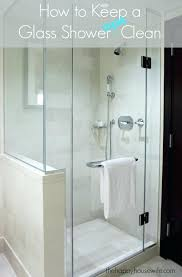 cleaning a shower door if you love a glass shower but dread the soap s spots