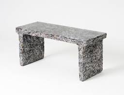 recycled paper furniture. Designed By Belgian Industrial Designer Jens Praet These Sleek And Textured Furniture Pieces Are Constructed From Shredded Magazines Documents Mixed Recycled Paper