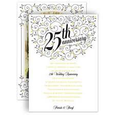 anniversary party invitations forever filigree 25th anniversary invitation