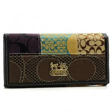 Coach Holiday Fashion Signature Large Black Wallets BSB