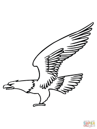 Bald Eagle Fly 1 Coloring Page On Eagle Coloring Pages Coloring