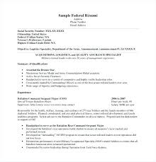 Resume Builder Military Sample Army Resume Veteran Federal Resume